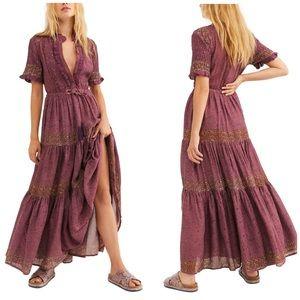 NWT Free People Rare Feelings Maxi Dress Plum